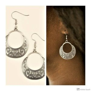 Noble Native - Silver Fishhook Earrings